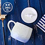 Good quality cup La marca de la marea creativa Jarra de cerámica con tapa, cuchara de café...