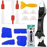 13 Stks Sealant Afwerking Tool Set, XCOZU Siliconen Remover Tool Grout Scraper Caulking Tool Kit/Mastiek Tool, 3 in 1 Silicon