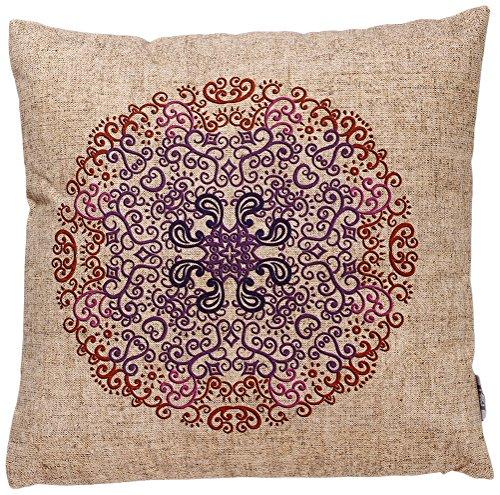 B&H 99932985 Cojín con Diseño Mandala, Algodón, Multicolor, Individual, 45x45x3 cm