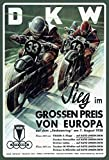DKW motorräder grosser preis 1938 schild aus blech, metal sign, tin sign