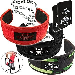 C.P.Sports Dip-Gürtel Standard Gürtel für Zusätzliches Gewicht bei Klimmzügen & Dips inkl. Griffpolster 3mm