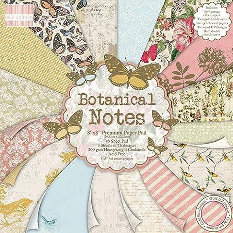 Premium Craft Cardstock First Edition Botanical Notes