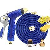 NIFANSH @Seamless idraulici telescopico fiore acqua regolabile Pistola ad acqua ad alta pressione Tubo di versione pura Manico antiscivolo Adatto per autolavaggio / Fiori d'innaffiatura Lega di zinco blu , 3000cm