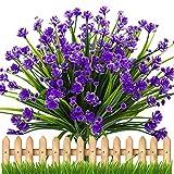 Künstliche Pflanze, 4 Bündel Gefälschten Künstlichen Sträuchern Blumen -Lila Narzisse Gypsophila, Büsche innen und Außen Hängenden Blumentöpfe für Zuhause, Hochzeit Freien Garten Deko