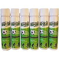 Pro-fade Fútbol Árbitro Desvanecimiento Rociar | Equipo de Árbitro de Fútbol Esencial | Rociar temporal de marcación gratuita | Rociar no permanente ecológico | Equipo de fútbol - (PRO-FADE-100S-6 Pack)