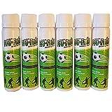 Spruzzo di fuga dell'arbitro di calcio Pro-fade | Attrezzatura essenziale dell'arbitro di calcio | Spray per marcatura temporanea a calci liberi | Spray non permanente ecologico | Attrezzatura da calcio - (Pacchetto PRO-FADE-100S-6)