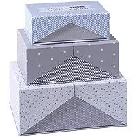 Atmosphera - Lot de 3 Boîtes Carton Gris >