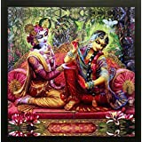 "PAF Radha Krishna Painting||Krishna Painting|| Radha Krishna Painting||Krishna Poster|| Krishna Wall Stickers ||PAF Pooja Art ""N"" Frame Exclusive Framed Wall Art Paintings For Living Room And Bedroom. Frame Size(Wood, 35 Cm X 2 Cm X 35 Cm, Speci"