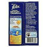 Felix Katzennassfutter Sensations Crunchy in Gelee (mit Crunchy Knusperstückchen Geschmacksvielfalt vom Land) 10 x 100g Portionsbeutel und 1 x 40g Knusperstückchen