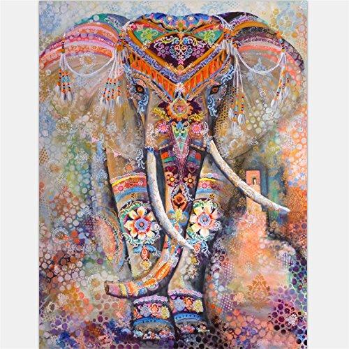 /psychedelischen Stil, Motiv: Elefant, Lebensbaum und Blumenmuster, Wandbehang im Hippie-/Zigeunerstil, Picknickdecke, Tagesdecke, Vorhang, Dekoration, Decke für Tische und Sofas, für Strand und Yoga, D, M (Super Schöne Babes)