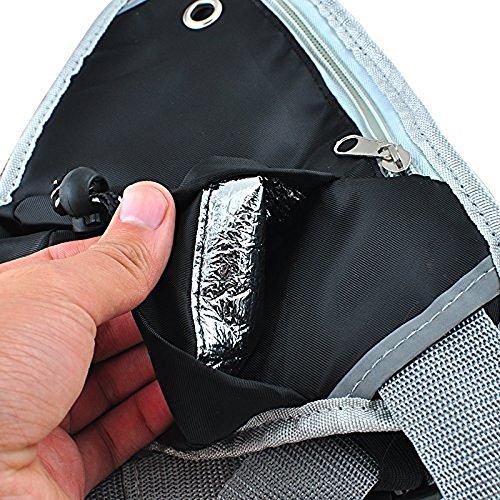 Sijueam Hüfttasche mit Verstellbarem Bauchgurt für Jogging Wandern Schwarz