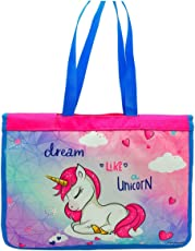 Shopaholic Fully Designed Activity Bags with Multiple Pockets for Kids/Teenagersr (Dream Like Unicorn)