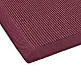 BODENMEISTER Sisal-Teppich modern hochwertige Bordüre Flachgewebe, verschiedene Farben und Größen, Variante: rot, 60x110