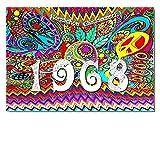DigitalOase Glückwunschkarte 1968 50. Geburtstag Jubiläumskarte 50. Jubiläum Geburtstagskarte Grußkarte Format DIN A4 A3 Klappkarte PanoramaUmschlag #WOODST