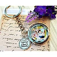 Family Photo Locket Key ring - Family Charm Mother's day gift Keepsake Family memories Gift for mother gift for grandmother new baby gift