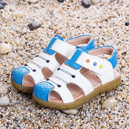 Evedaily Chaussure Plates de Marche Randonnée Sandales d'Eté Enfant Bout Fermé Blanc