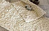 Badteppich Badematte Badvorleger Landhaus Shabby Chic - Blumen Geprägt - 53x85 - Creme - 100% Baumwolle (1800 gsm)