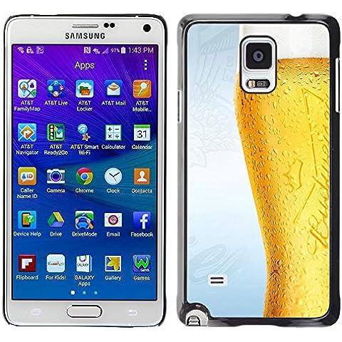 TORNADOCOVER Unico Immagine Rigida Custodia Case Cover Protezione Per SMARTPHONE Samsung Galaxy Note 4 SM-N910F SM-N910K SM-N910C SM-N910W8 SM-N910U SM-N910 - divertente bicchiere di birra gelido
