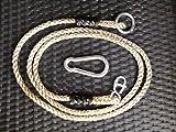 2 x Seil + 2 x Karabiner Haken Schaukelseil mit Achterhacken Verlängerungsseil Universal 180 cm Verstellbar