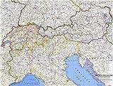 Reproduktion eines Poster Präsentation–Schweiz, Österreich und Norditalien (1965)–61x 81,3cm Poster Prints Online kaufen