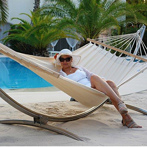 Luxus Hängemattenset Chico Alpha Edelstahlgestell mit wetterfester Stabhängematte Hawaii