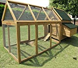 Chicken Coops Imperial® Marlborough, fino a 12 animali con doppio box e recinto - ripiano in pendenza rimovibile.