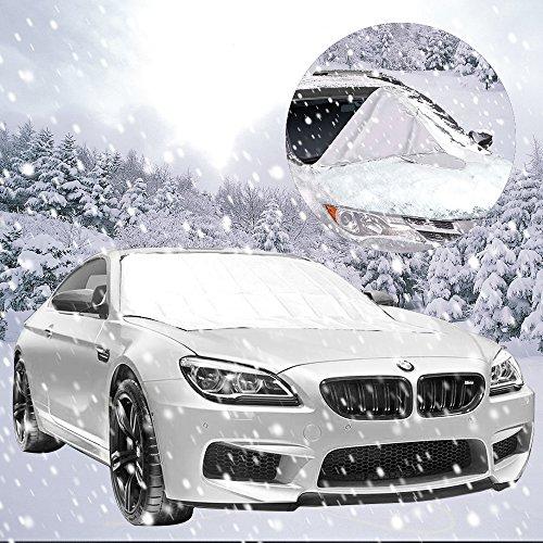 KOROSTRO - Copertura per Parabrezza, per Auto, Protezione antigelo, paravento, Pieghevole e Rimovibile, per l'inverno, 160 x 118 cm