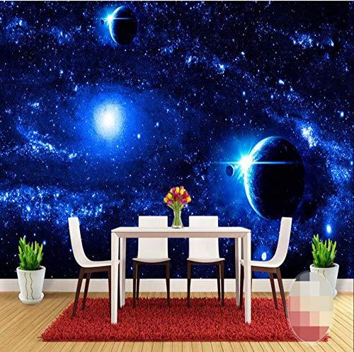 VVNASD 3D Wand Aufkleber Tapete Wandbilder Dekorationen Universum Sternenklare Galaxie Planeten Hintergrund Wohnzimmer Sofa Schlafzimmer Hintergrund Modern Kunst Kinder Zimmer (W) 300X(H) 210Cm