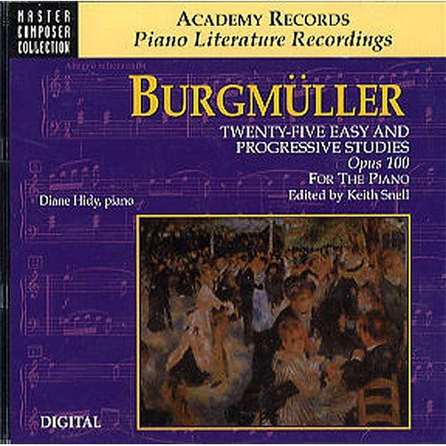 Burgmuller: 25 Easy And Progressive Studies Op.100 CD. Für Klavier
