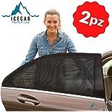 ICECAR Tendine Parasole Auto Bambini Originali - Nuovo Tessuto 130g/m² Premium Royal Stretch 2021 - Protezione Raggi solari U