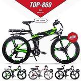 GUOWEI Rich BIT RT-860 36V 12.8AH 250W Vélo Pliant électrique vélo Tout Suspendu vélo de Ville (Black-Green)
