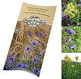 Saatgut Set: 'Geschützte Pflanzen', 3 Pflanzensorten, die in Deutschland in der Natur vom Aussterben bedroht sind als Samen zur Anzucht für Garten und Wildnis in schöner Geschenkverpackung