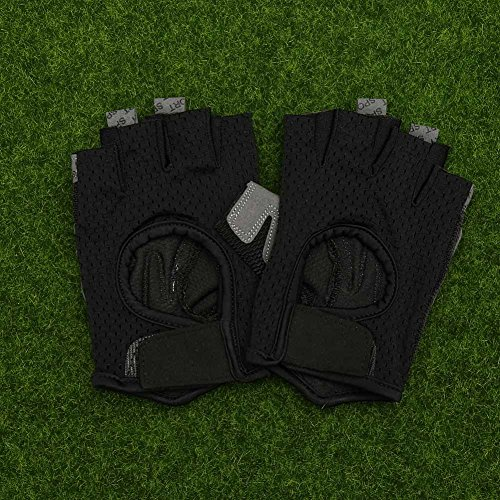 Sportstorm-Sport-Gloves-Training-Gloves-Gym-Gloves-Workout-Gloves-Exercise-Gloves-Cycling-Gloves-Crossfit-Gloves-Half-Finger-Gloves-Breathable-Anti-slip-Silica-Gel-Pad-Gloves-1-PairSmall-Black
