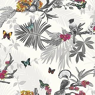 Arthouse Mystical Forest White Multi Wallpaper