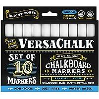 Marcadores de Tiza Blanca Líquida (Conjunto de 10) de VersaChalk – Para Carteles Pizarra, Pizarrones, Vidrio, Ventanas