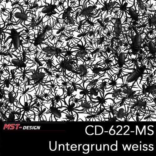 S Spider Beetle Spinnen Käfer schwarz Dekor Film Folie in 100 cm Breite Wassertransferdruck WTD / Wassertransferdruckfilm WTP Water transfer printing Hydrographics (Spider Dekor)