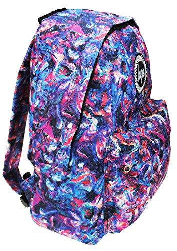 Hype Rucksack Taschen Rucksäcke–Schulranzen–viele neue Farben & Designs–wählen Sie Ihre Favoriten aus 40Styles, Speckled Black/Navy Blue (Schwarz) - Hype bag (Splatter Embroid) Paint Swirls