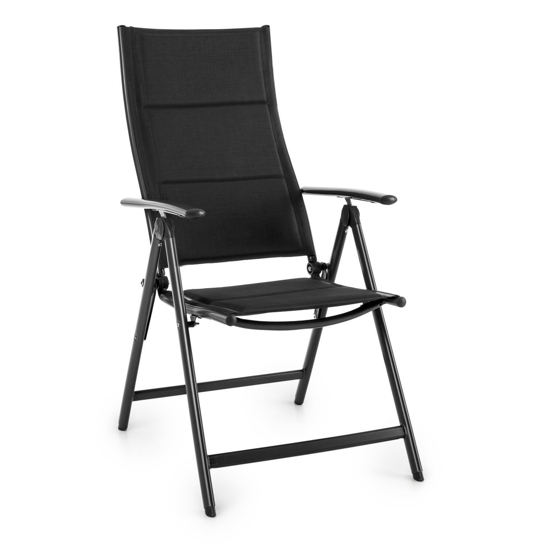 Blumfeldt Stylo Royal Black Garden Chair • Folding Chair • Powder