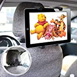 ieGeek Universal KFZ-Kopfst�tzen Tablet Halterung, Auto R�cksitz Kopfst�tze Halterung Einstellbare Halter F�r iPad 2/3/4/Mini/Air, Samsung Galaxy Tab, Tragbare DVD-Player und 7-12 Zoll Tablets Bild
