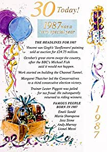 Blue Carte d'anniversaire 30 ans - 1985 Was A Very Special Year carte année 2015