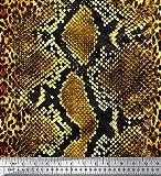 Soimoi Gold Baumwolljersey Stoff Leopard & Schlange