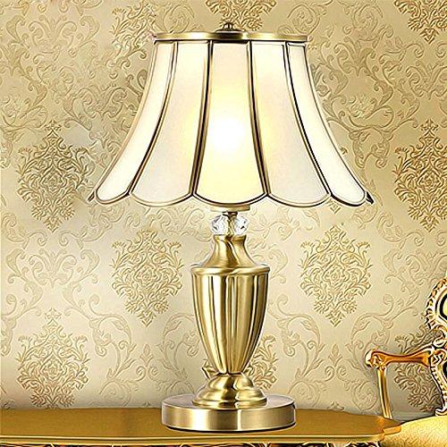 XXN-Europeo di lampade di rame minimalista lampada camera da letto soggiorno lampada lampada sul comodino (Corsia Crema)