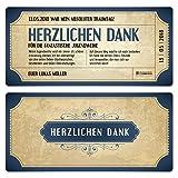 10 x Jugendweihe Dankeskarten Danksagungskarten Danksagung Jugendweihekarten - Vintage Eintrittskarten in Blau