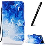 Slynmax Housse iPhone 8 Plus,Coque iPhone 7 Plus, Poisson Case de Fleur Bumper Etui...