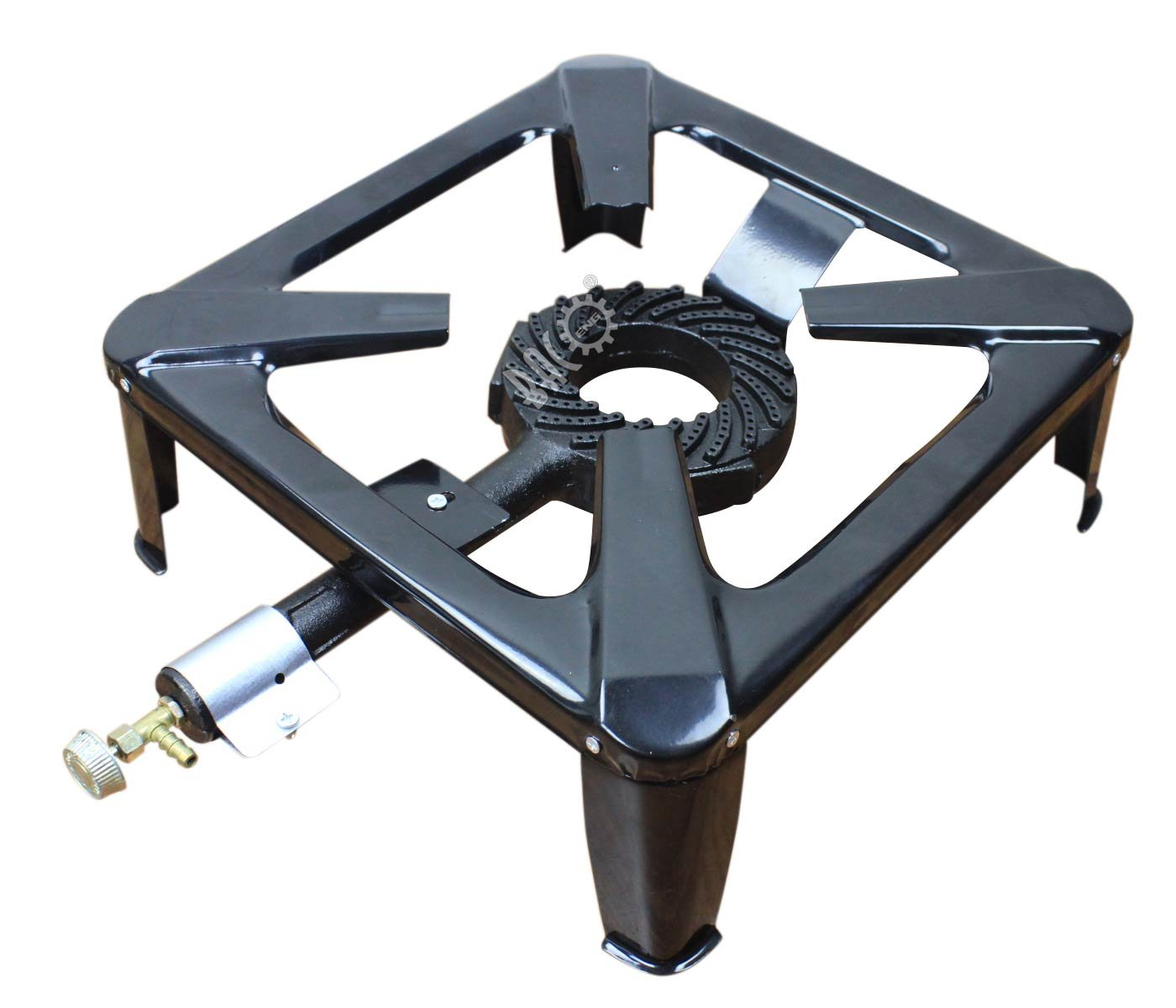 BACOENG Hornillo de gas hierro fundido con 4 pies