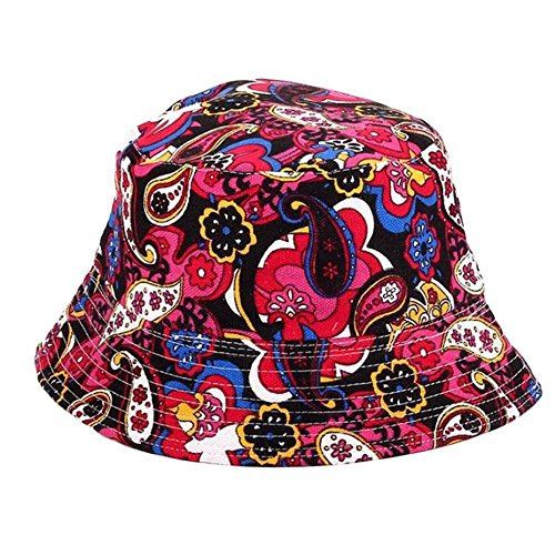 Preisvergleich Produktbild NINGSANJIN Sonnenhut Anglerhut Fischermütze Unisex Blumenmuste Hat Sonnenhüte Herren Frauen Fischerhüte Sommerhut Schlapphut Bucket Hat Outdoor-Hut, Many Patterns (I3)