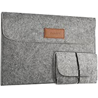 EasyAcc Macbook Air 13.3 Zoll Filz Sleeve Hülle Ultrabook Laptop Tasche für 13'' MacBook Pro/Macbook Air 13/ Pro Retina/ 12,9 Zoll iPad Pro Hülle Grau