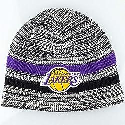Mitchell & Ness–Gorra de la NBA Los Angeles Lakers equipo de estática rayas