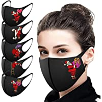 UK 5/10/25PCS Adults Washable Reuse Face_Masks Breathable Delicate New Halloween Printed Fashion Bandanas Outdoor…