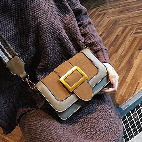 OME&QIUMEI Eine Kleine Tasche Mit Einer Breiten Schulter Tasche Und Eine Kleine Tasche Mit Einem Einzigen Schultertasche Khaki